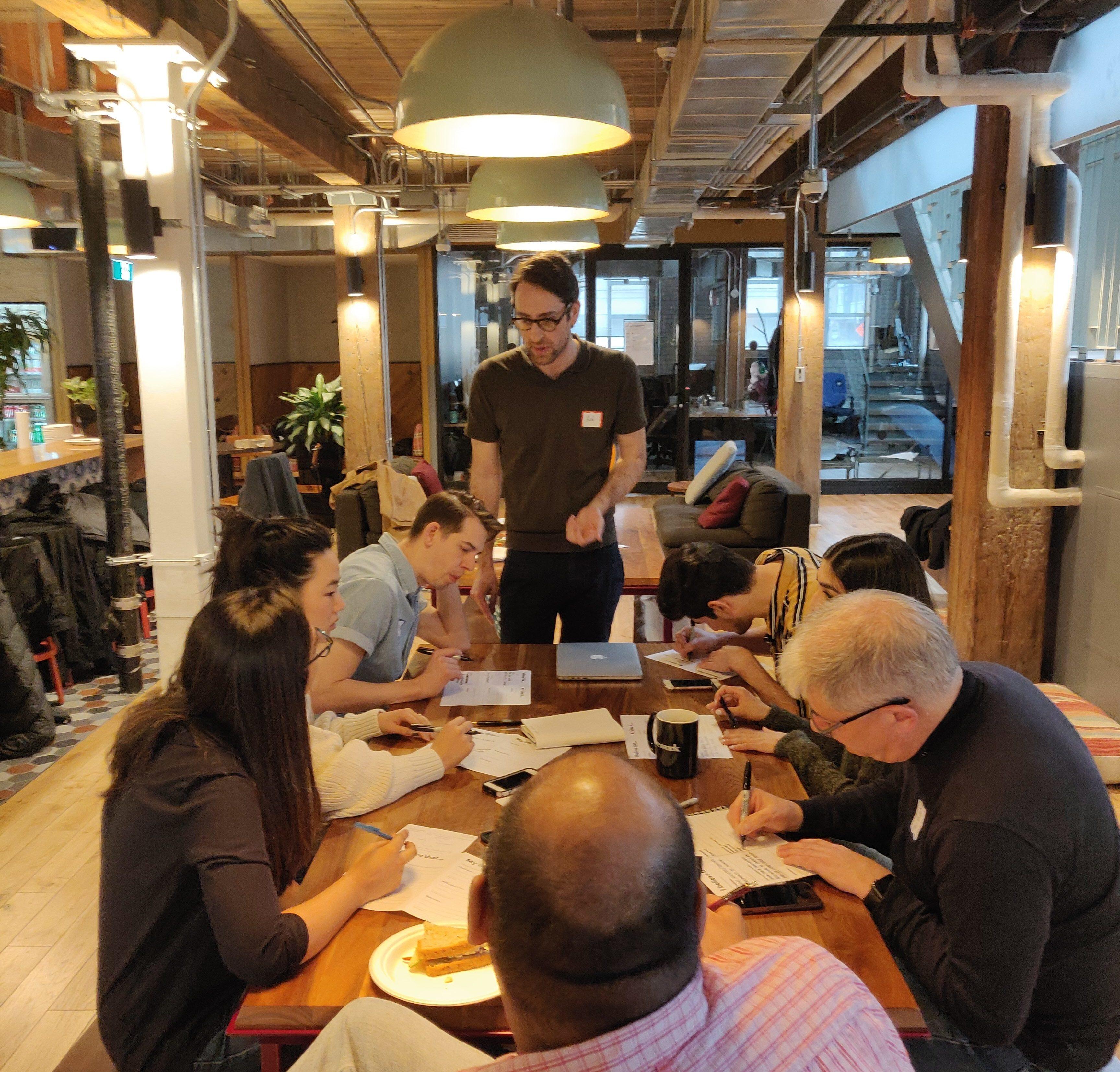 Robert Hicks at the Global Service Design Jam in Toronto